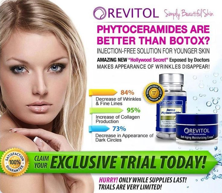 Click Here: http://beautyhealth4menwomen.com/RevitolPhytoceramides.php     Clinically studies prove that the Revitol Phytoceramides Solution ingredients begin working instantly and combine to strategically target wrinkles. For more information: http://beautyhealth4menwomen.com/RevitolPhytoceramides.php