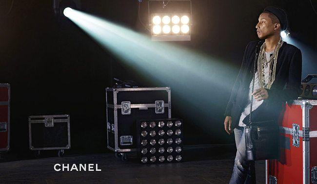 Pharrell Williams: o primeiro homem numa campanha de carteiras Chanel - Notícias : Campanhas (#805902)