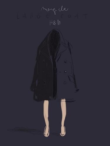 Cappotto Oversize Margiela at HM.   #illustration Open Toe opentoe.posterous.com