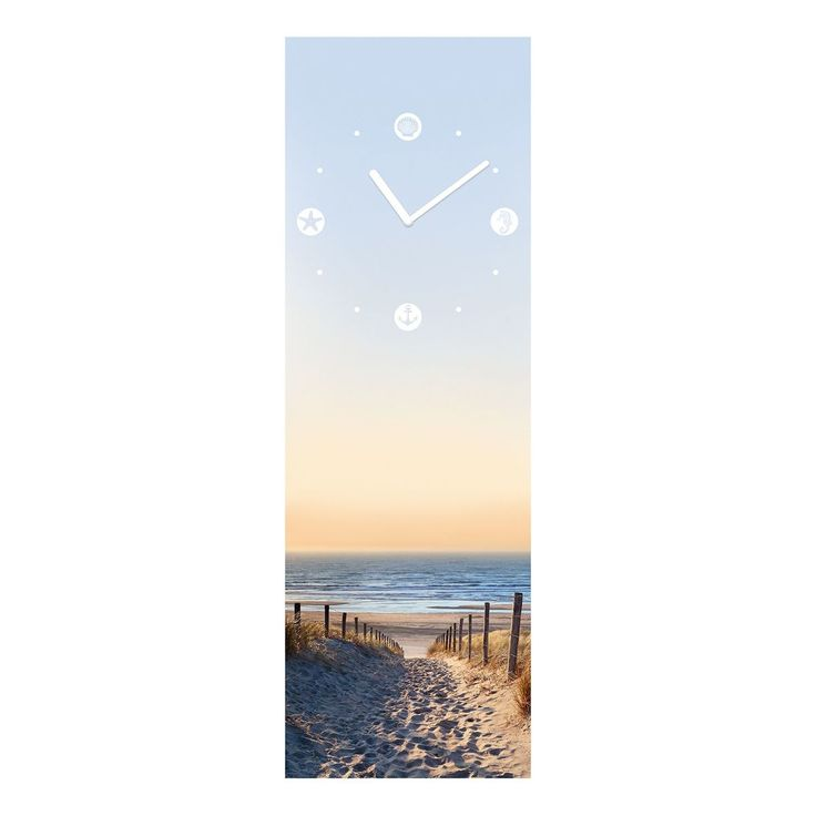 Beautiful Wanduhr Maritim Beach Glas Himmelblau Sand Jetzt bestellen unter https