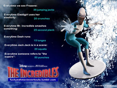 The Incredibles workout!  Want to see more workouts like this one? Follow us here.