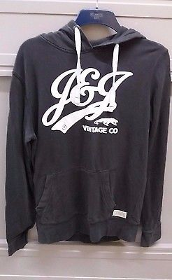 Jack and Jones Grey Hooded Jumper Size Small