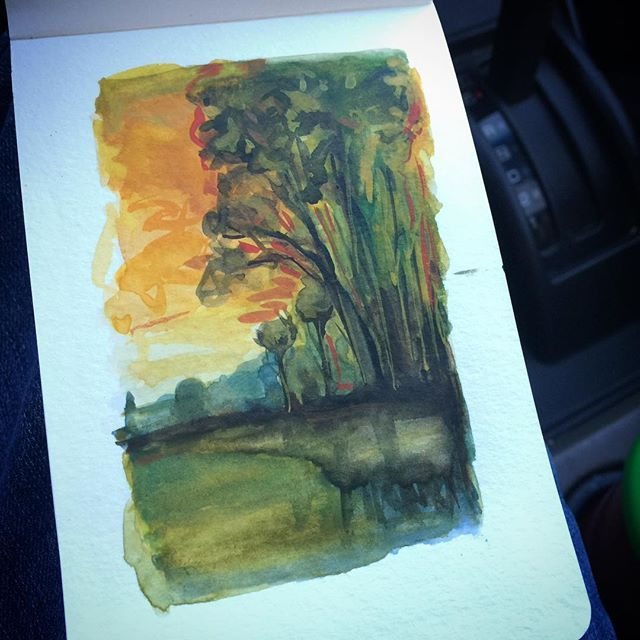 #art #drawing #sketch #sketching #instaart #instasketch #painting #paint #quick #moleskine  #rembrandtwatercolor #watercolor #brush #imagination #landscape #quickie