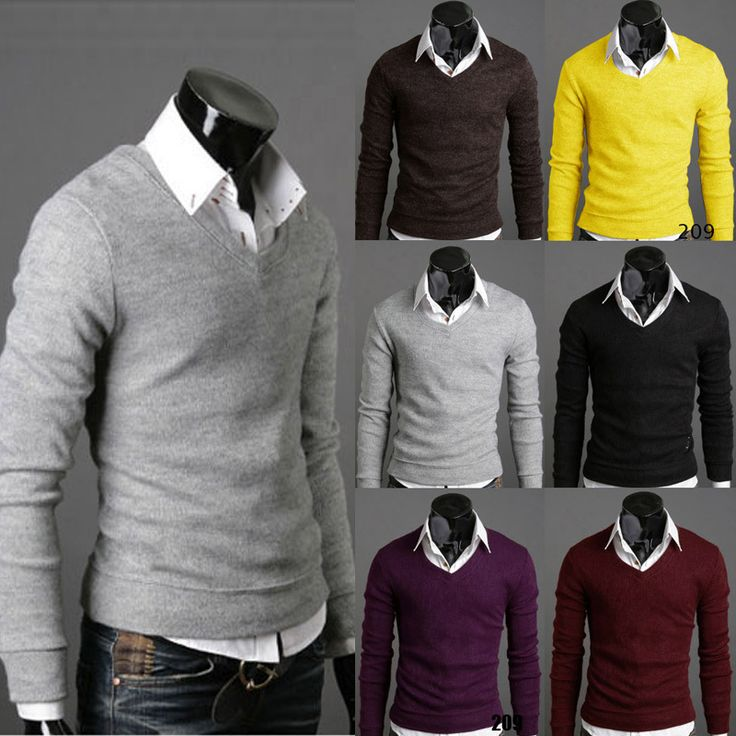 Hot explosion models men's sweater solid V neck pullovers men's knit sweater long sleeved Six Colors M L XL XXL Sweater Men-in Pullovers from Men's Clothing & Accessories on Aliexpress.com | Alibaba Group