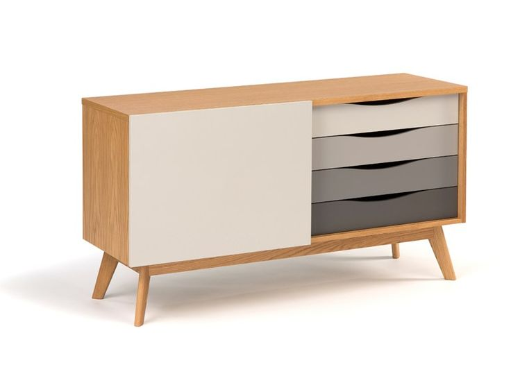 Lacquered wooden sideboard with drawers | Woodman