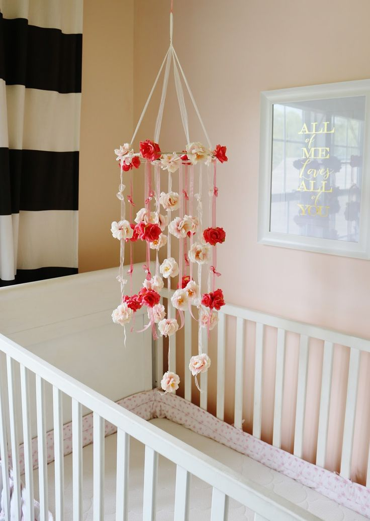 love this diy mobile my simple modest chic floral. Black Bedroom Furniture Sets. Home Design Ideas