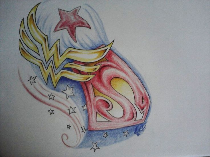Images of tatoos of wonder woman and superman together | Hell Yeah Superman-n-Wonder Woman • Heroes by LilliMBNava Would make ...