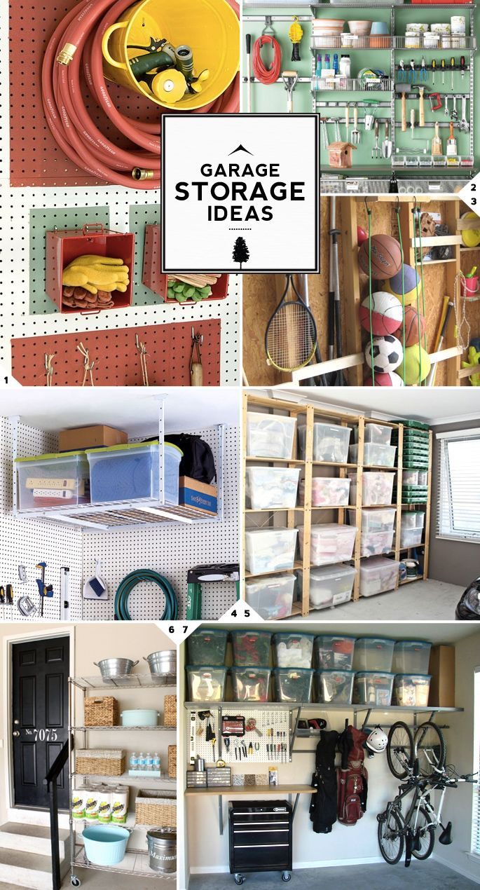 Garage Storage Ideas - love these great practical solutions