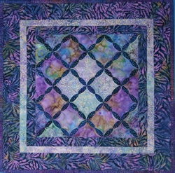 beautiful blues   Cathedral Window Quilt