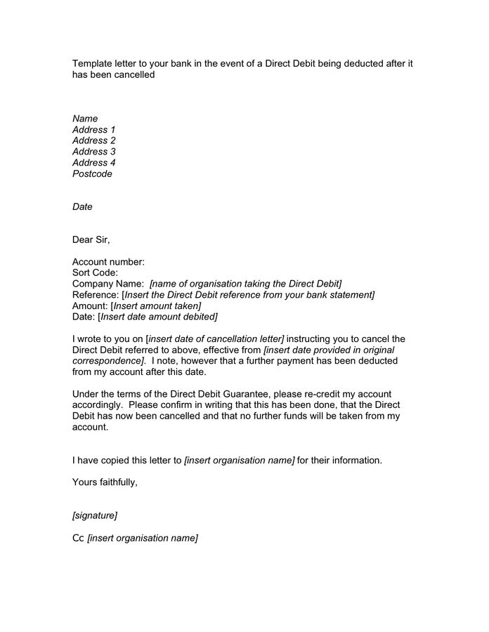 cancellation letter format bank template your worksheet samples - bank reference letter