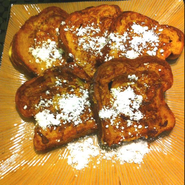 Cinnamon swirl bread French toast! I used Trader Joe's cinnamon swirl ...