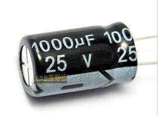 Free shiping 50PCS 1000UF 25V electrolytic capacitor 10x17mm