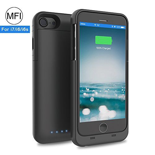 Review - iPhone 7/ 6s/ 6 Battery Case, XREXS 3200mAh Rechargeable Extended Cell Phone Battery Charger Case,Backup Power bank with Micro USB Cable,Portable Charging Case Cover for iPhone (Black)