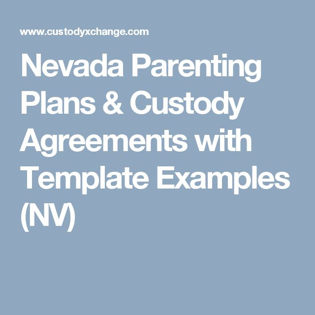 The  Best Custody Agreement Ideas On   Parenting Plan