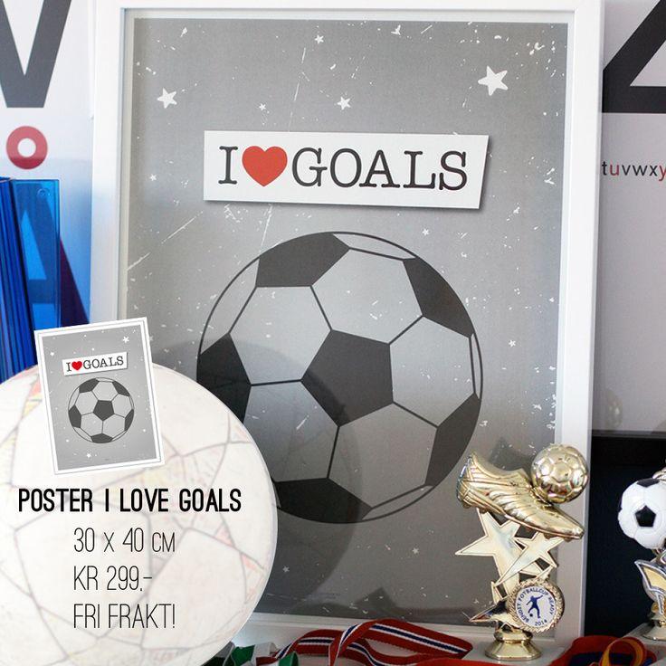 Fotballposter for alle som elsker måååååål! www.wendelborgdesign.no