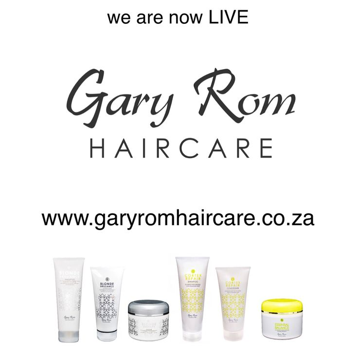 Buy our products online www.garyromhaircare.co.za