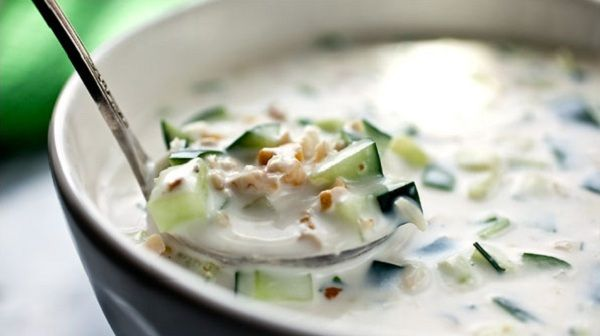 Суп из свежих огурцов. Холодные супы