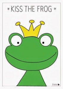 Oh wat is dit leuk voor een echt prinsessenfeest: het spel kus de kikker. Verandert de kikker in een prins? Laat de meisjes eerst felle lippenstift op doen. Dat alleen al is leuk! Dan een blinddoek om en kussen maar. Lukt het om de kikker te kussen? Je kunt de poster van de kikker, op A3-formaat, downloaden en printen vanaf de site van Elske Leenstra. Kus de kikker mag op geen enkel prinsessenfeest ontbreken.