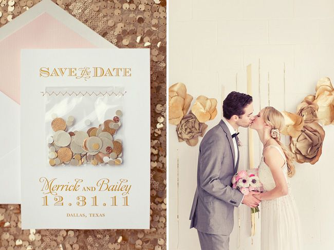 Save the date confetti