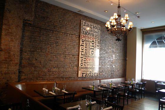 J. Rocco Italian Table & Bar, Rustic Italian spot in River North.  Comfy-chic brick walls and Sicilian family recipes.