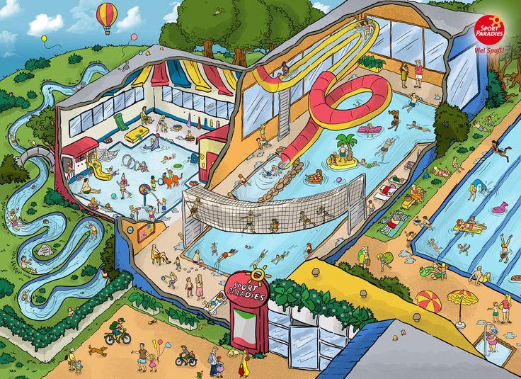 Praatplaat zwembad voor kleuters / sportparadies