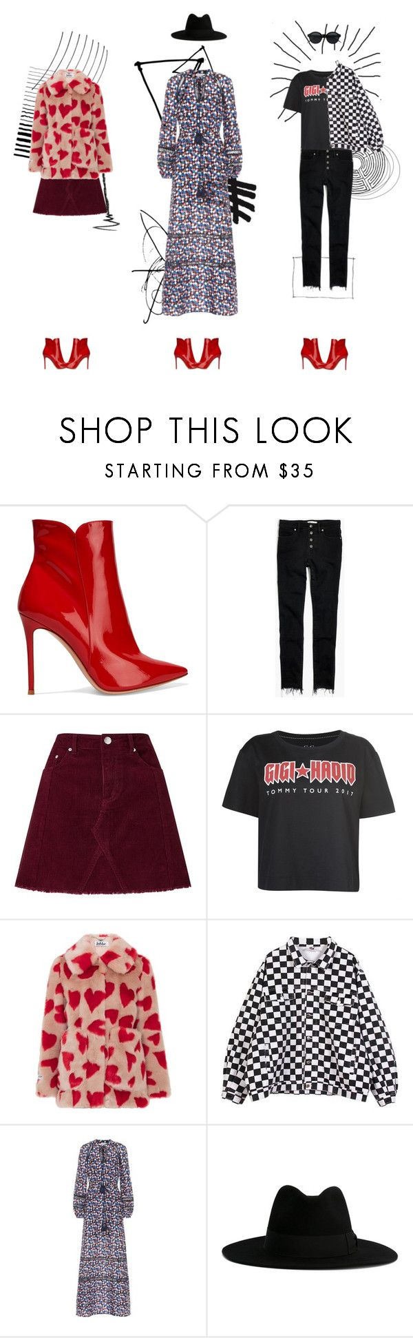 """how to style: red ankle boots"" by ditsi ❤ liked on Polyvore featuring Gianvito Rossi, Madewell, Miss Selfridge, Tommy Hilfiger, Jakke, Tory Burch and Yves Saint Laurent"