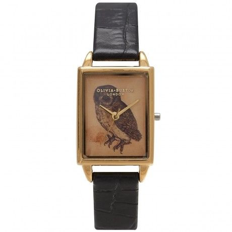 Olivia Burton Woodland Owl Black Gold OB14WL32 Brand : Olivia Burton Collection : Woodland Disenador : Lesa Bennett