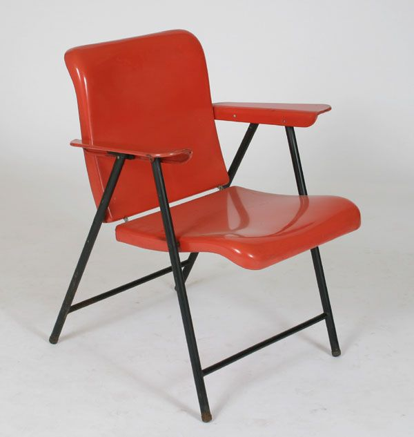 Russel Wright for Samson folding metal chair.
