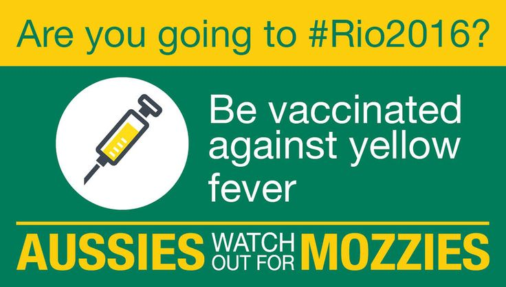 Don't let Olympic fever turn into yellow fever. Avoid serious illness-get vaccinated. Visit  health.gov.au/rio2016