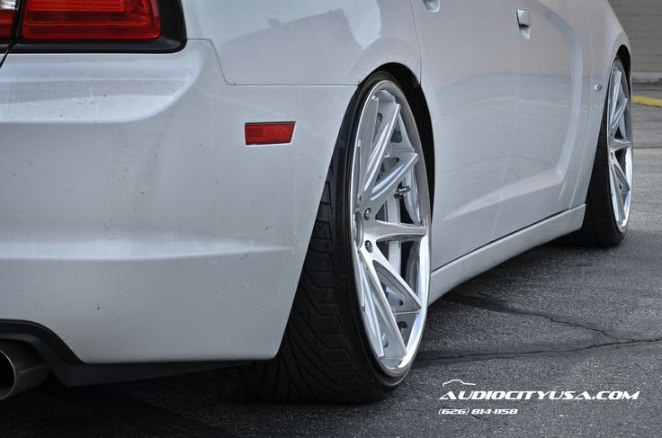 """STANCED 2013 Dodge Charger RT on 22"""" Rohana RC-10 Silver face chrome rc10 concave"""