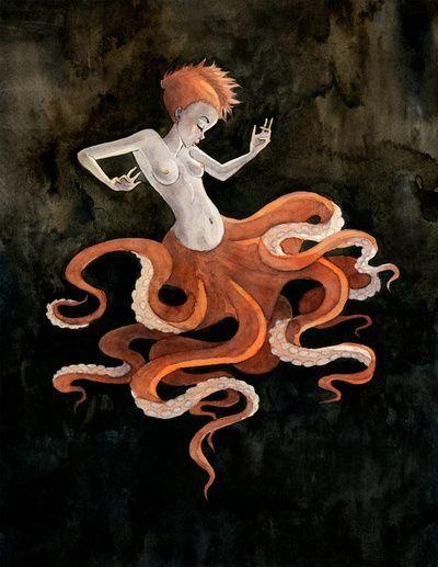 Octopus Mermaid by Renee Nault