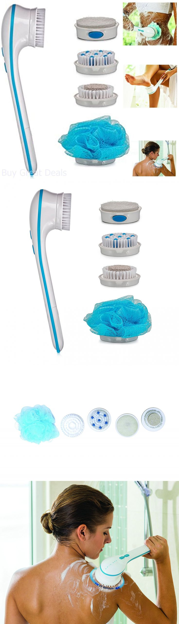 Bath Brushes and Sponges: New Genuine Spin Spa Body Brush With 5 Attachments Scrub Massage As Seen On Tv -> BUY IT NOW ONLY: $48.75 on eBay!