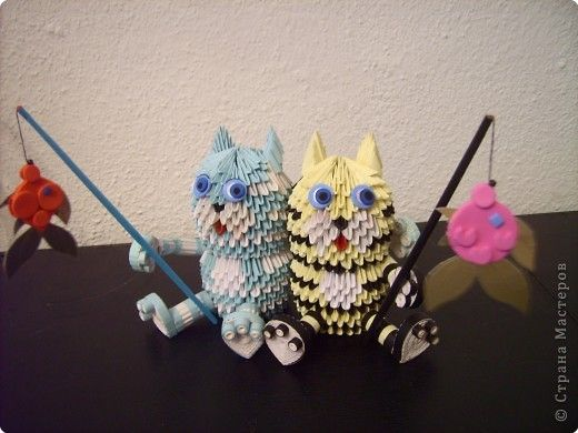 Композиция бабочки оригами