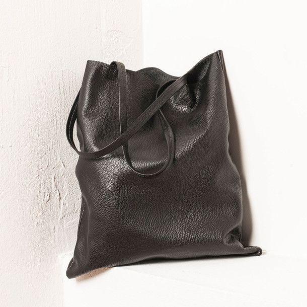 Leather Swag Bag Black