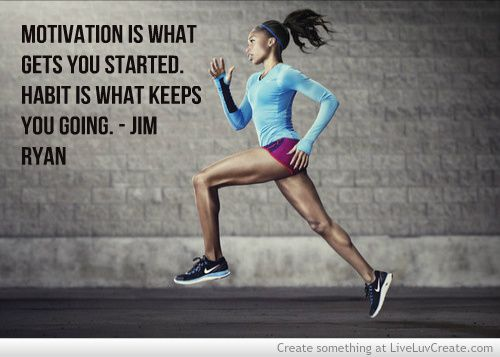 Motivation is what gets you started, habit is what keeps you going. - Jim Ryan