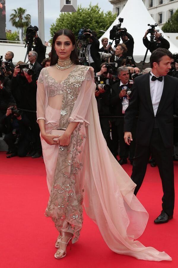 Sonam Kapoor style. Sonam Kapoor at Cannes 2014.