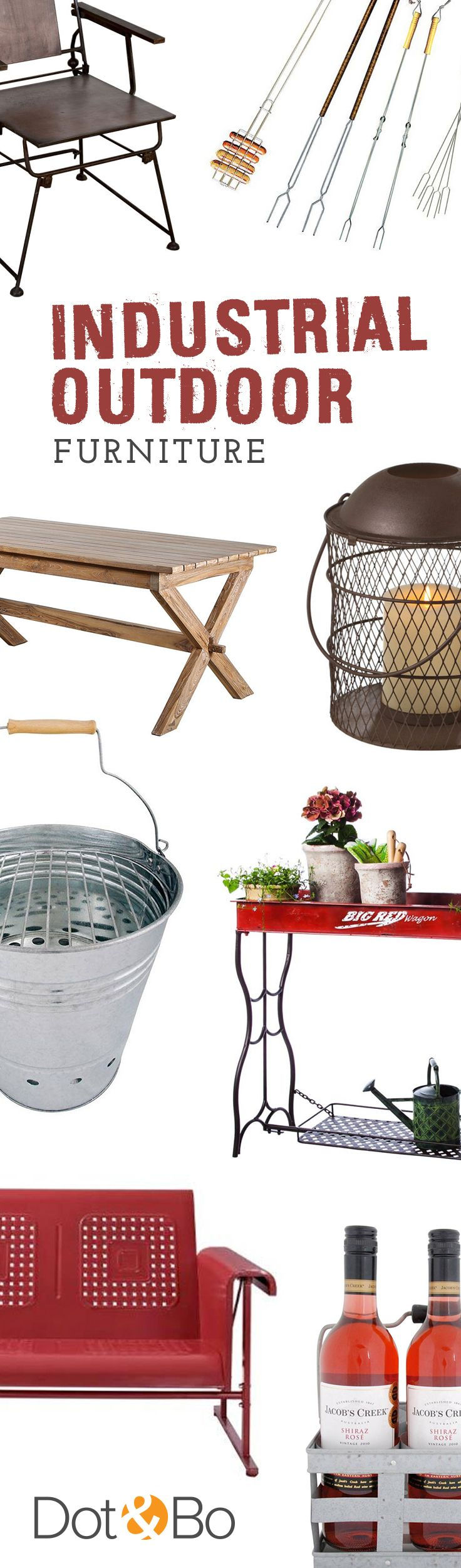 Industrial Outdoor Furniture & Décor | Shop Now at dotandbo.com