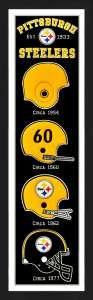 Framed Pittsburgh Steelers Heritage Banner.