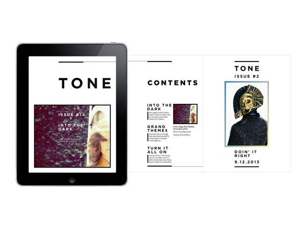 App presentation idea. TONE - iPad magazine on Behance.