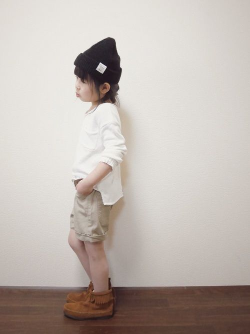 パンツsize:110 【身長105/体重15】 ベージュのショーパン♡ 裾の折り返しが可愛いショー