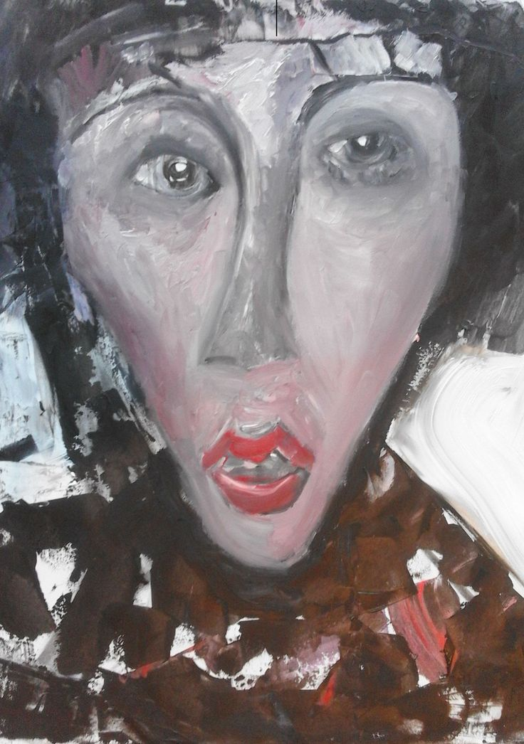 """femme chic"" Oil On Canvas, 2016 Ruth Clotworthy"