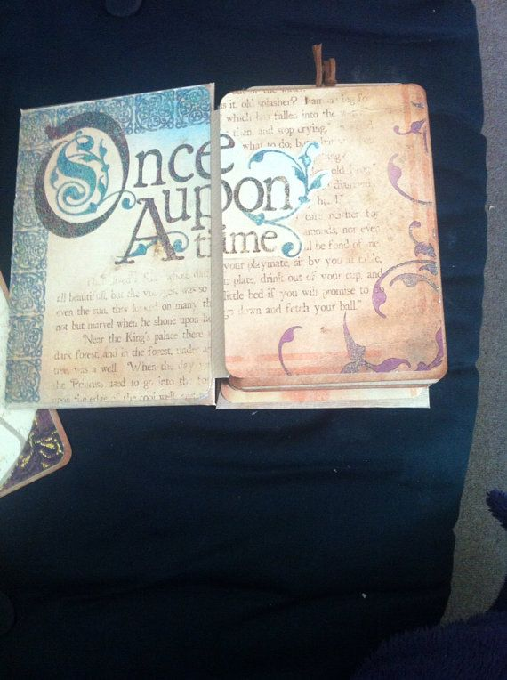 Once Upon A Time Scrapbook/Journal/Wedding/Photo Mini Envelope Album on Etsy, $46.70