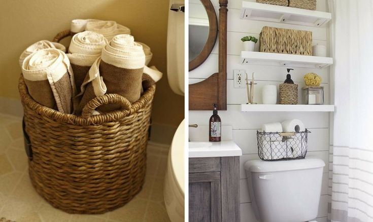 Towel storage ideas that will make you love your small, cramped bathroom. Find the best ways to save space while rocking your home decor.