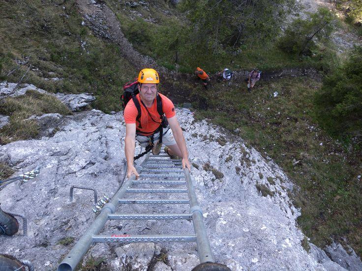 Klettersteig: Tegelbergsteig Klettersteig Tegelberg in Deutschland, -Bayern im Gebirge/Berg Ammergauer Alpen/Tegelberg
