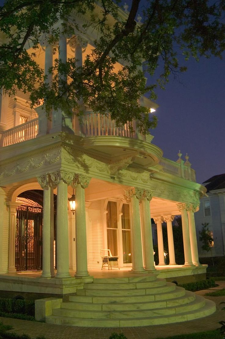 Evenin On The Front Port Of Wedding Cake House New Orleans