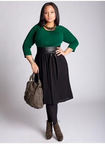 Lynette Sweater Dress in Green