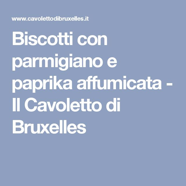 Biscotti con parmigiano e paprika affumicata - Il Cavoletto di Bruxelles