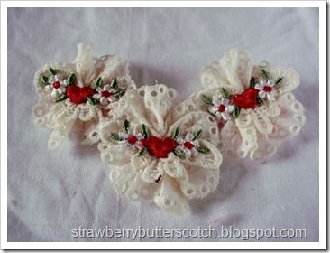 Lace Applique Brooches with Tutorial