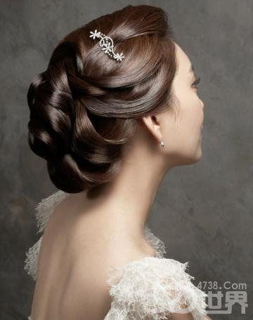 Elegance Korean bride makeup hairstyles
