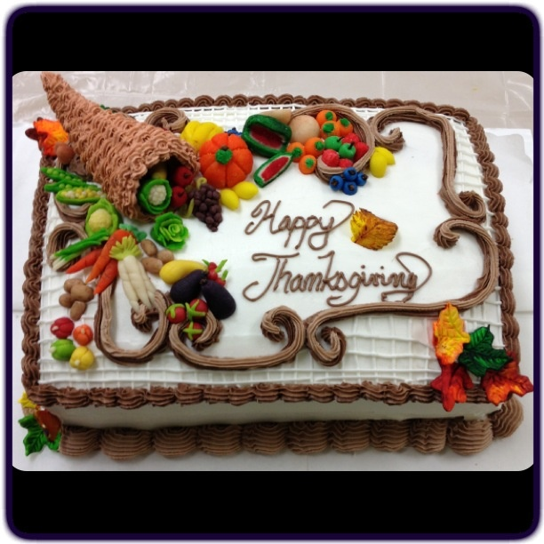 Nice work @Danielle Lampert Magni Thanksgiving cake...